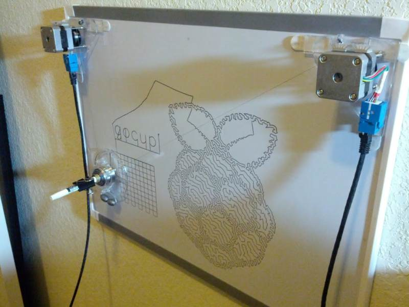 Gocupi Go Raspberry Pi Polargraph Drawbot Piday