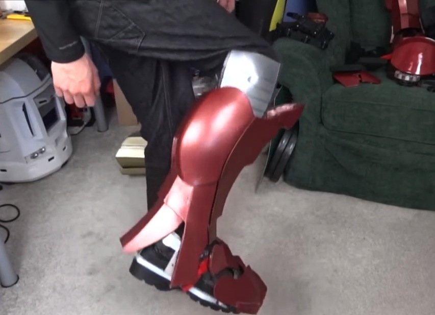 XRobots 3D Printed Iron Man Cosplay Flexible Knee Sections Printed in Ninjaflex Rubber YouTube
