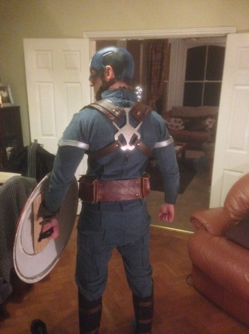 cap costume back