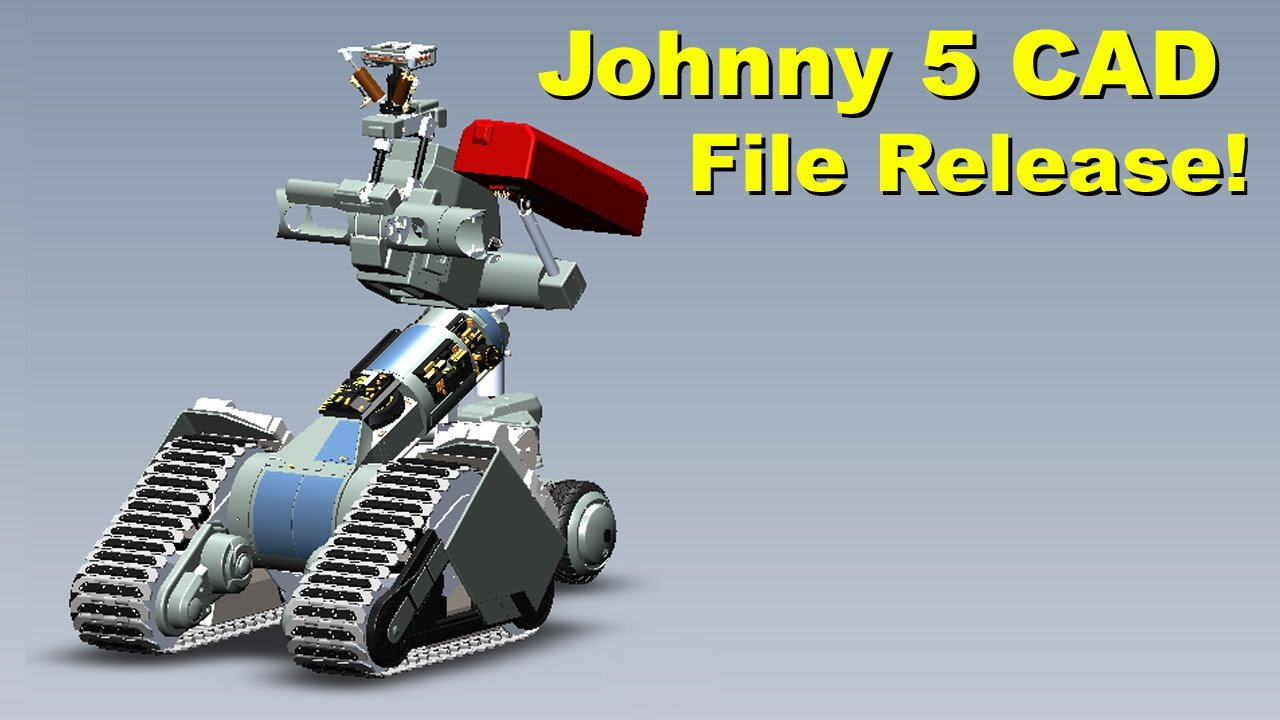 Short Circuit Johnny 5 Open Source Cad Files Adafruit Industries 3d Schematic Software Makers Hackers Artists Designers And Engineers