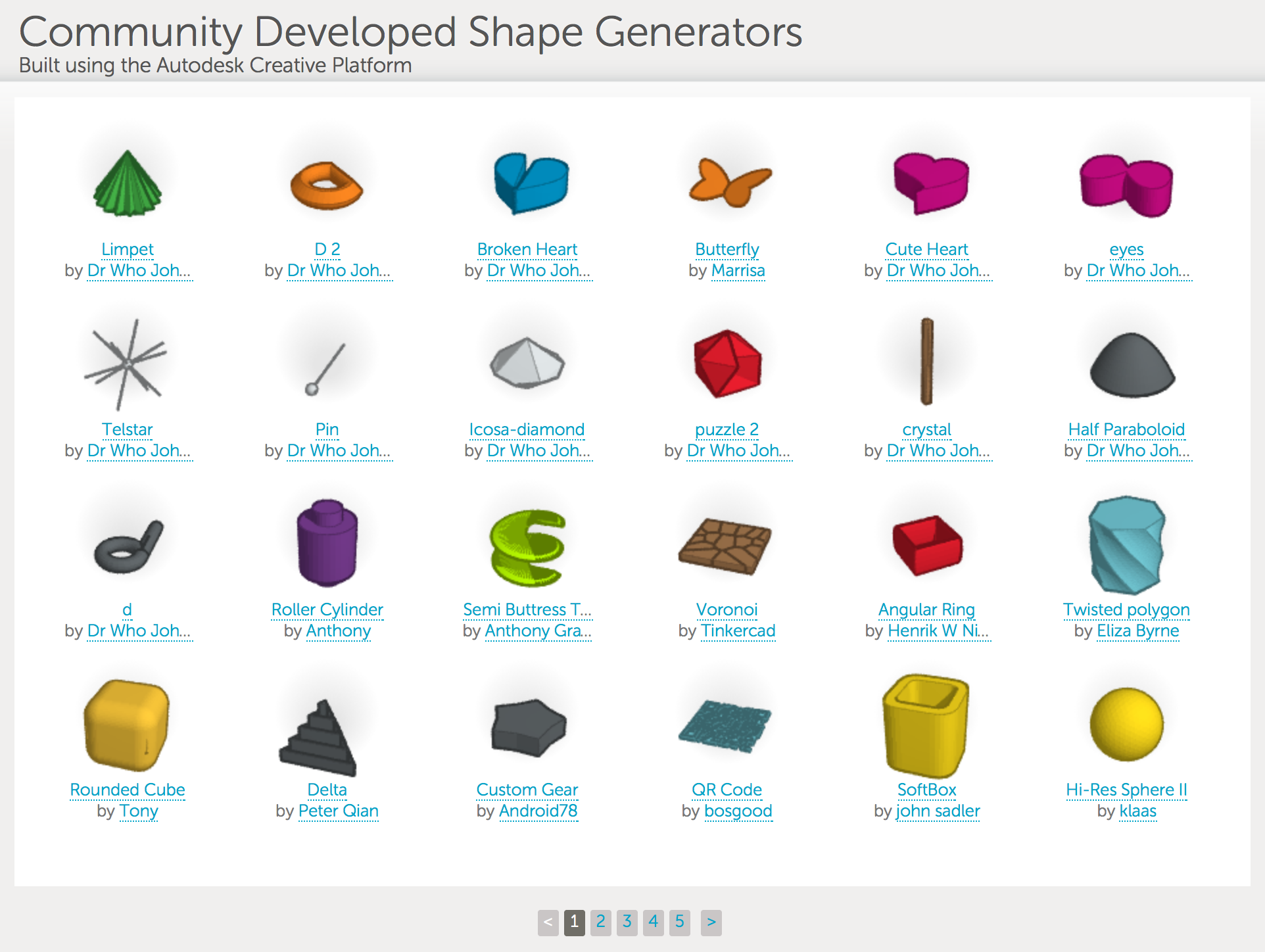 tinkercad-community-shape-generators