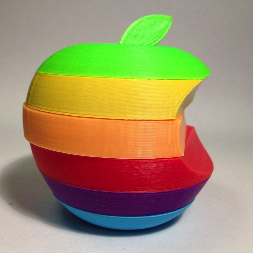 Apple Mac logo the stripey one by lafe Thingiverse