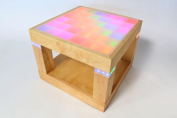 light up disco table using arduino adafruit industries makers hackers artists designers. Black Bedroom Furniture Sets. Home Design Ideas