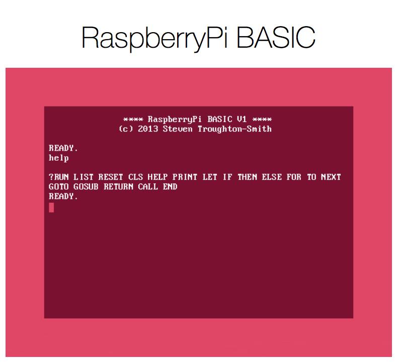 High Caffeine Content RaspberryPi BASIC