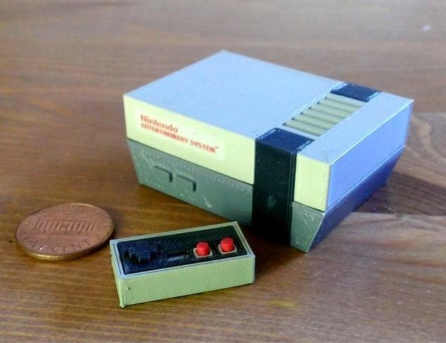 Mini Ninteno Entertainment System NES by RabbitEngineering Thingiverse
