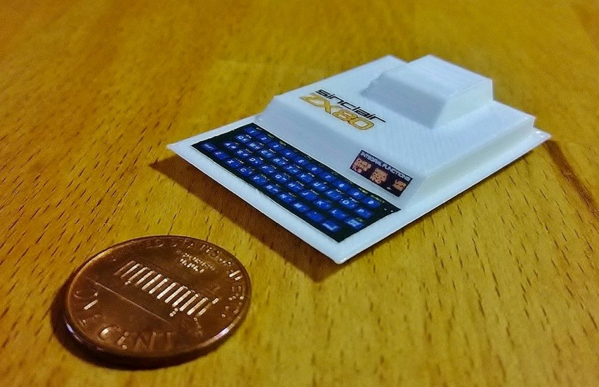 Mini Sinclair ZX80 by RabbitEngineering Thingiverse