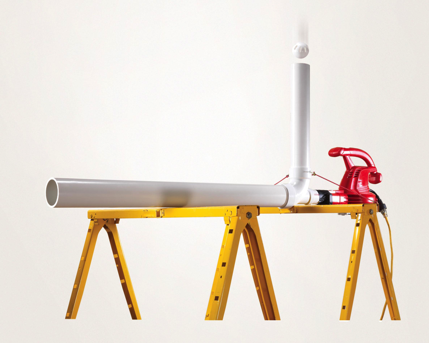 Build A Diy Wiffle Ball Pitching Machine Using A Leaf