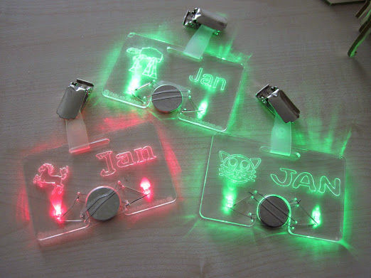 Cute And Easy Laser Cut Led Nametags Wearablewednesday