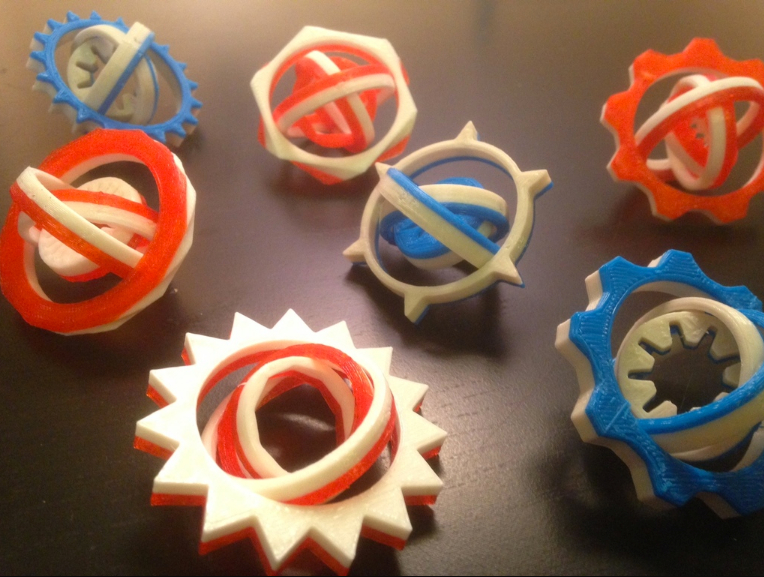 Personalizable Math Gyros by mathgrrl Thingiverse