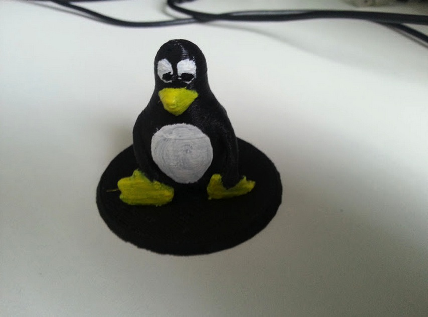 Tux the Linux Penguin statue by frankkienl Thingiverse