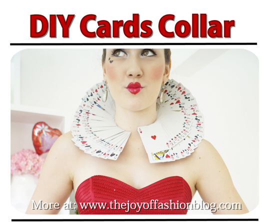 queen of hearts card collar