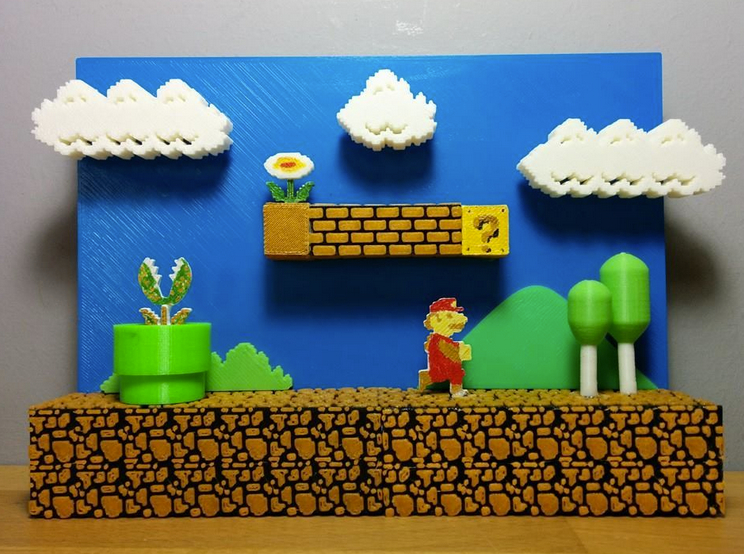 3D Mario Scene by 3Dortgen Thingiverse