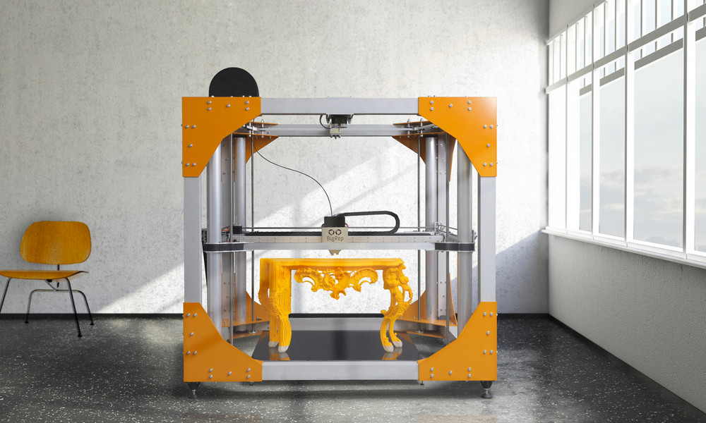 3dprinting 3d printed furniture at french trade show for Furniture 3d printing