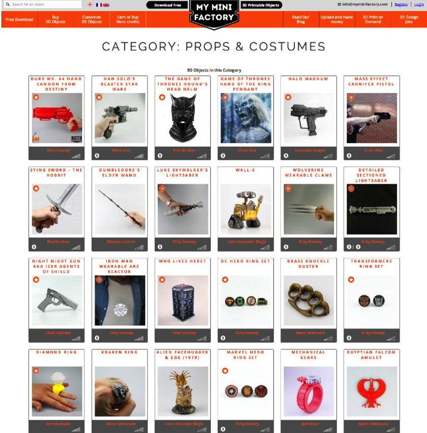 Category Props Costumes MyMiniFactory com