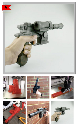 Download Han Solo s Blaster Star Wars by soulorigin89 MyMiniFactory com