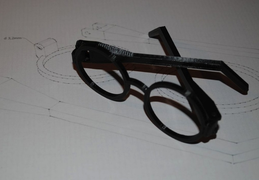 Harry Potter Glasses with hinges by sivar2311 Thingiverse