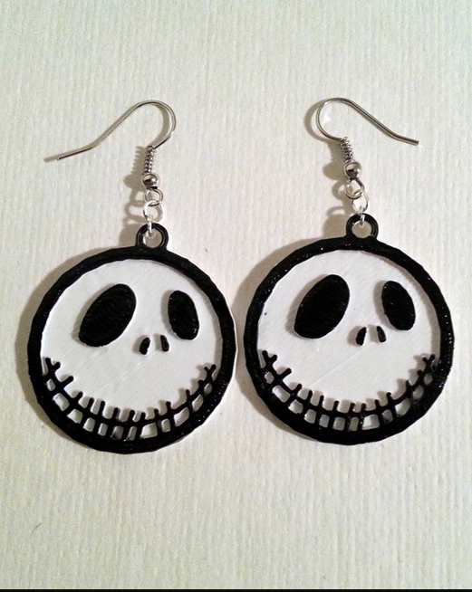 Jack Skellington Earrings by GlitchTech Thingiverse