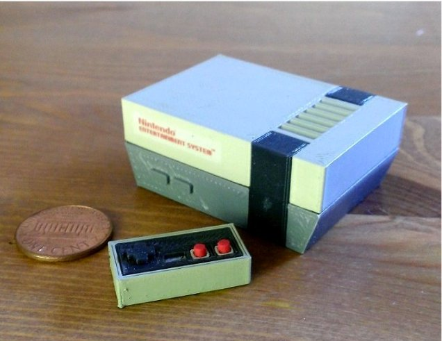 Mini Ninteno Entertainment System NES by RabbitEngineering Thingiverse