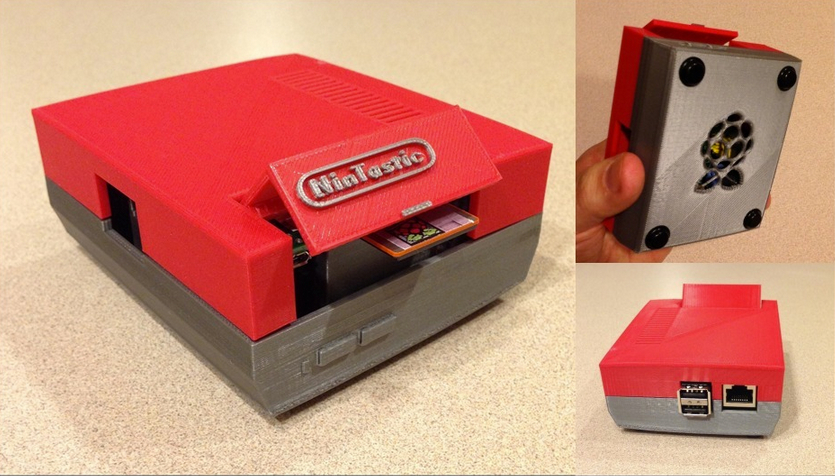 NinTastic Nintendo Style Case for the Raspberry Pi by tastic007 Thingiverse