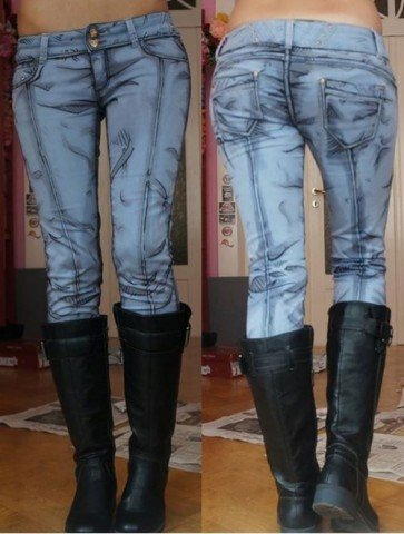 cel-shaded jeans