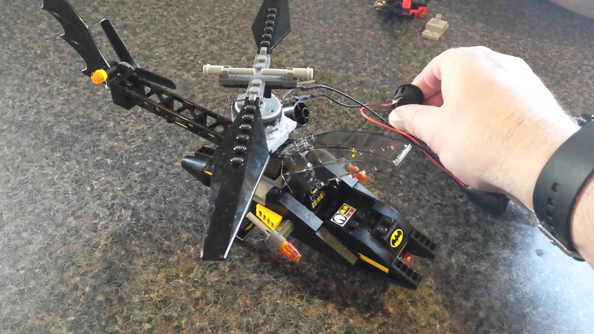 Lego batman helicopter with moar power video « adafruit