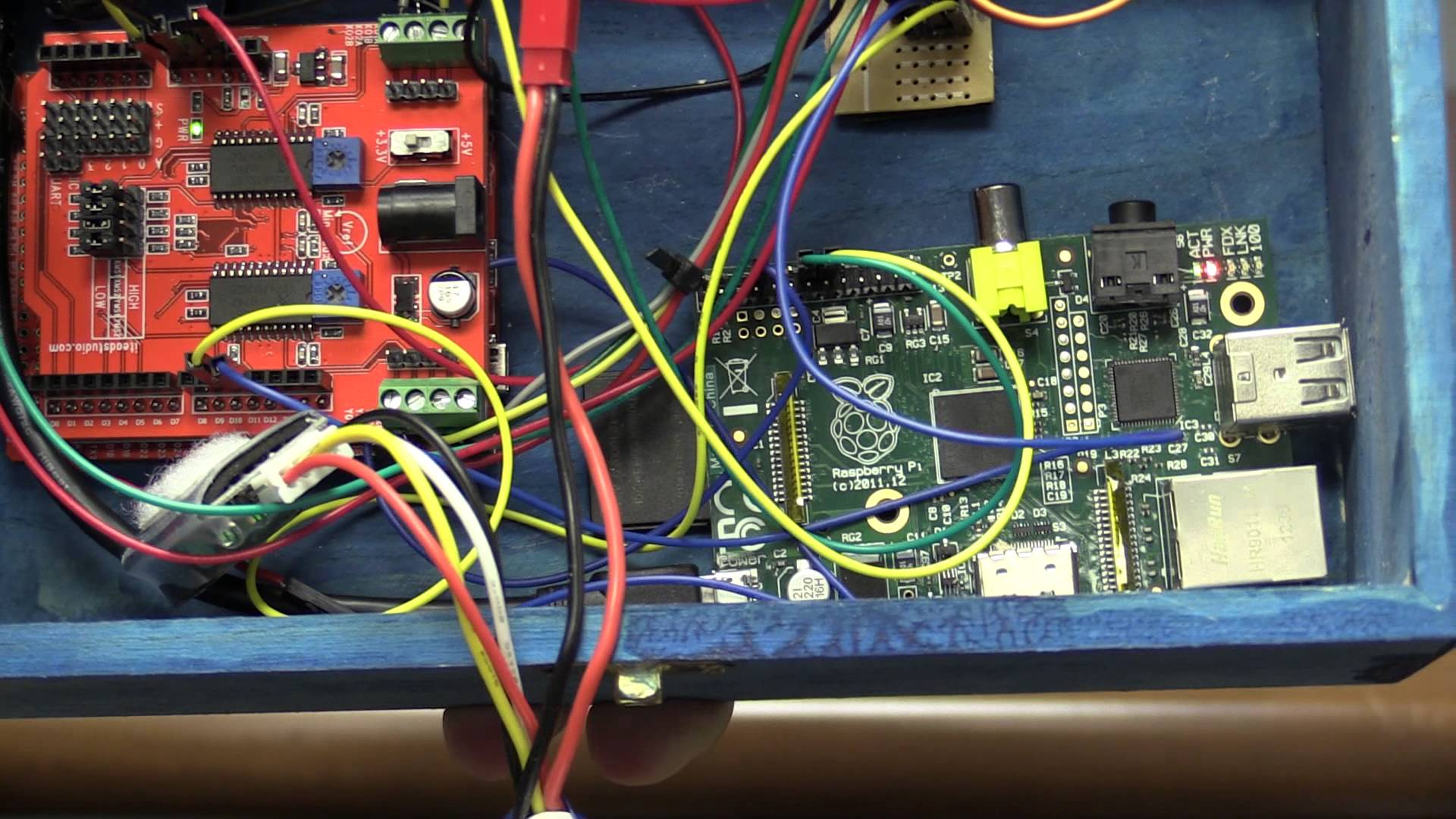Stepper Music Box: Dual stepper motors plus two servo-driven percussion instruments, in a tidy project box #piday #raspberrypi @Raspberry_Pi « Adafruit ...