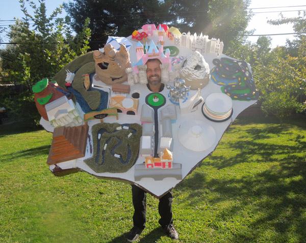 Disneyland map costume
