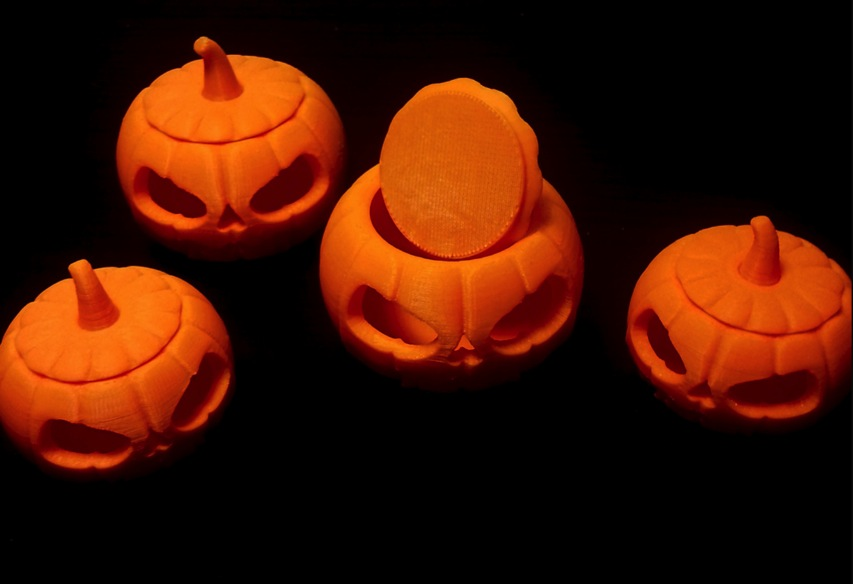 Jack O Lantern snap on lid by christinachun Thingiverse