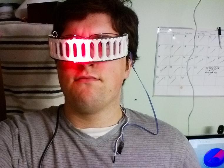 NeoPixel 60 Pixel Ring Sci Fi Visor by MattDurr Thingiverse