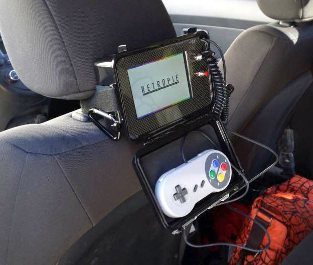 Raspberry pi emulator console for the backseat piday