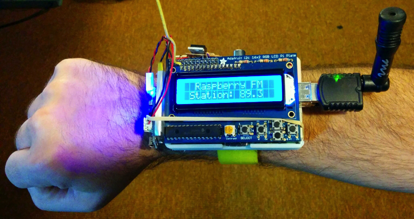 Raspwristradio Wearable Personal Fm Radio Station Made
