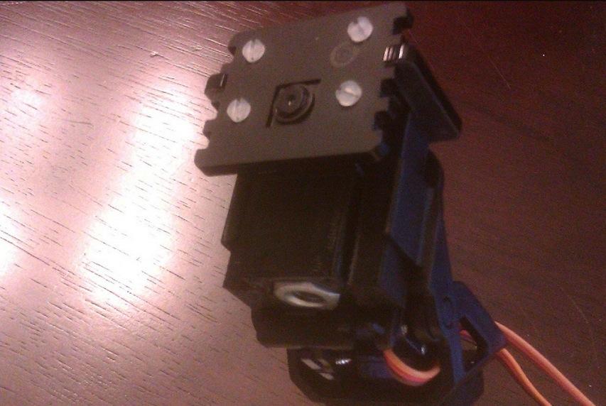 Raspberry Pi Camera Mount Pan Tilt Adapter by JennaSys Thingiverse