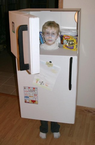 cardboard box costume 1