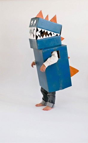 five ways to use cardboard boxes for a halloween costume. Black Bedroom Furniture Sets. Home Design Ideas
