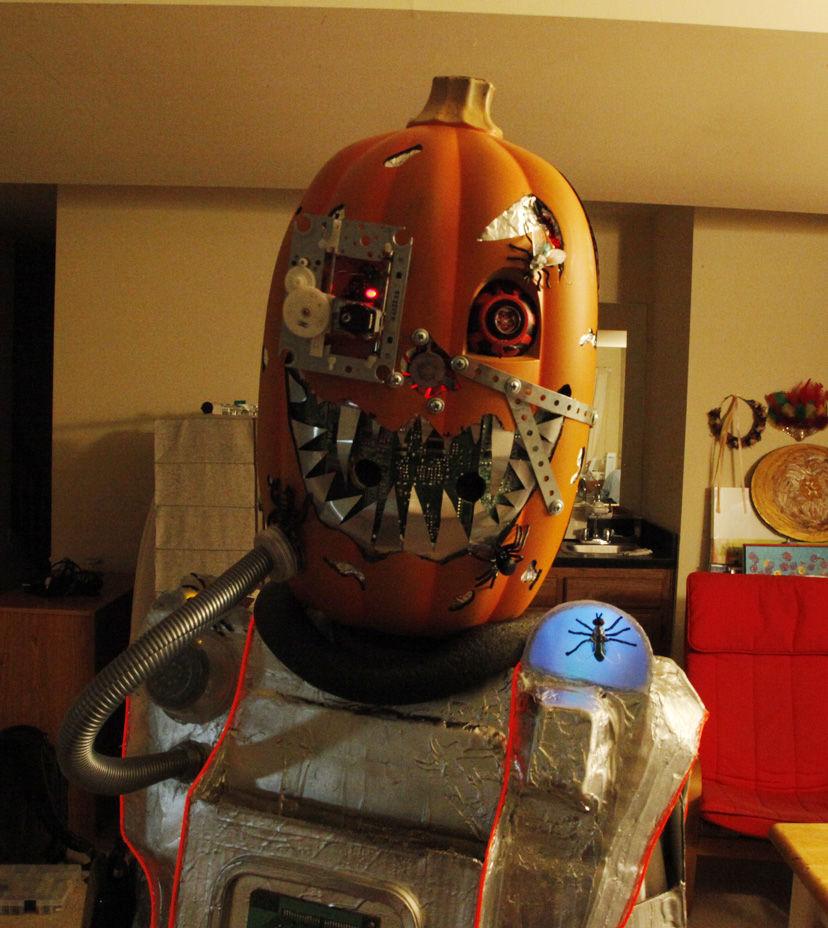 diy mutant cyborg pumpkin halloween costume  u00ab adafruit