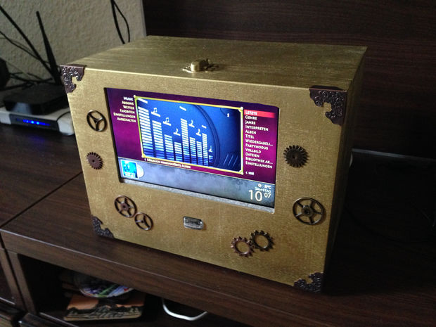 Build Your Own Steampunk Style Raspbmc Mediabox  Raspberry
