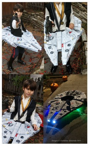 Han Solo and Falcon costume 1