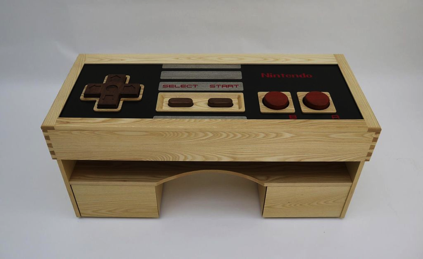 Build A Working Nintendo Controller Coffee Table #ArtTuesday