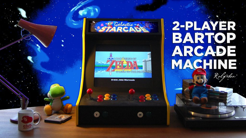 Make A Two Player Bartop Arcade Machine Piday