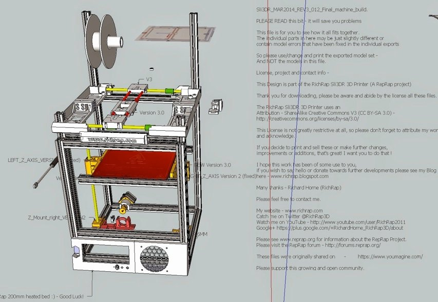Reprap alchemist richrap shares sli3dr 3d printer design for 3d printer build plans