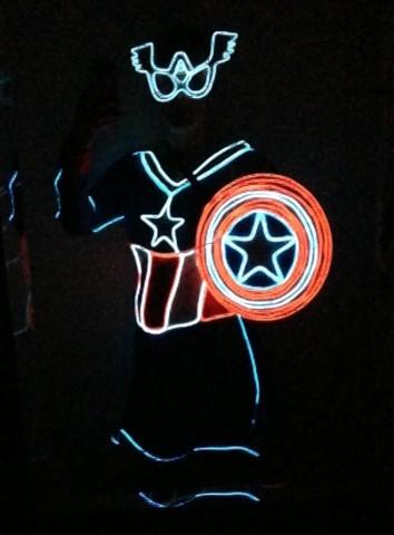 captain america glow costume