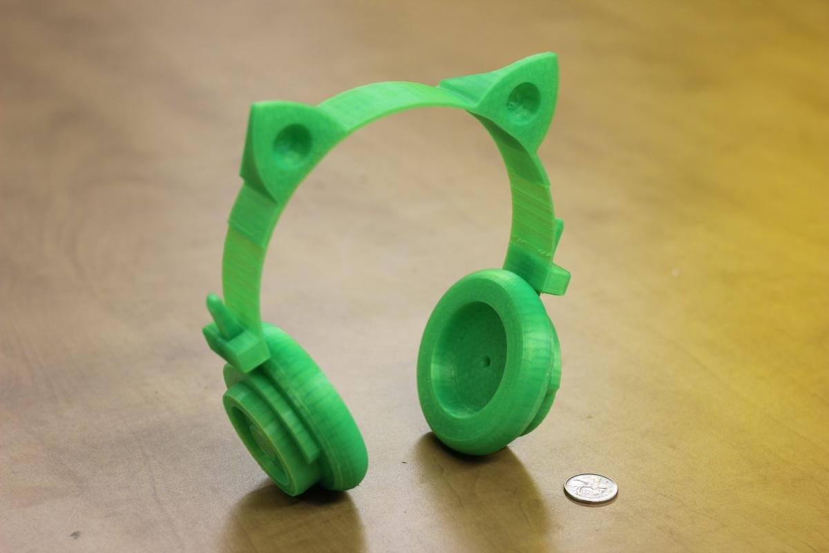 diy  3dprinted cat ear headphones  3dprinting  3dthursday