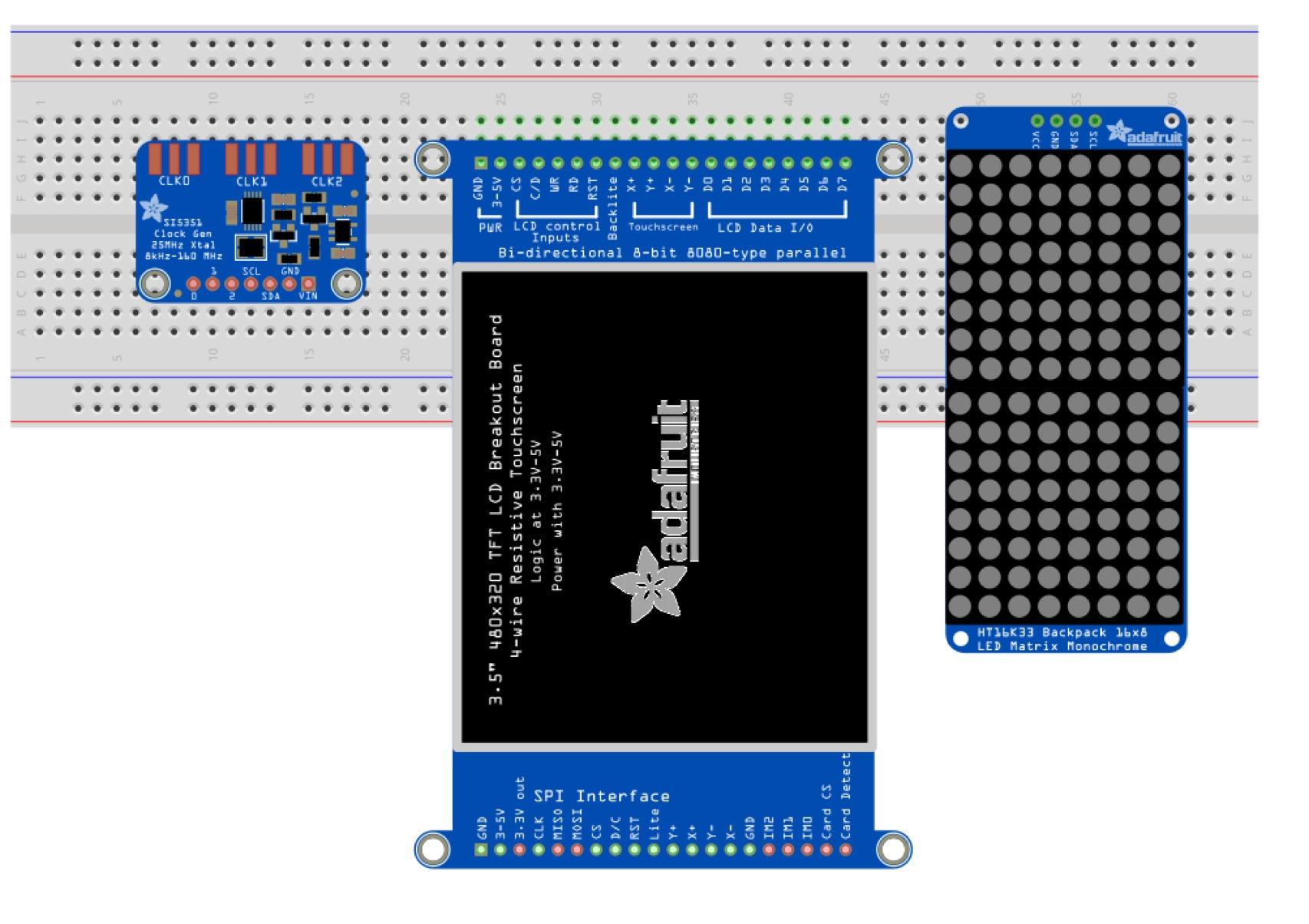 Fritzing Friday! Touchscreen Breakout Board, Clock Generator