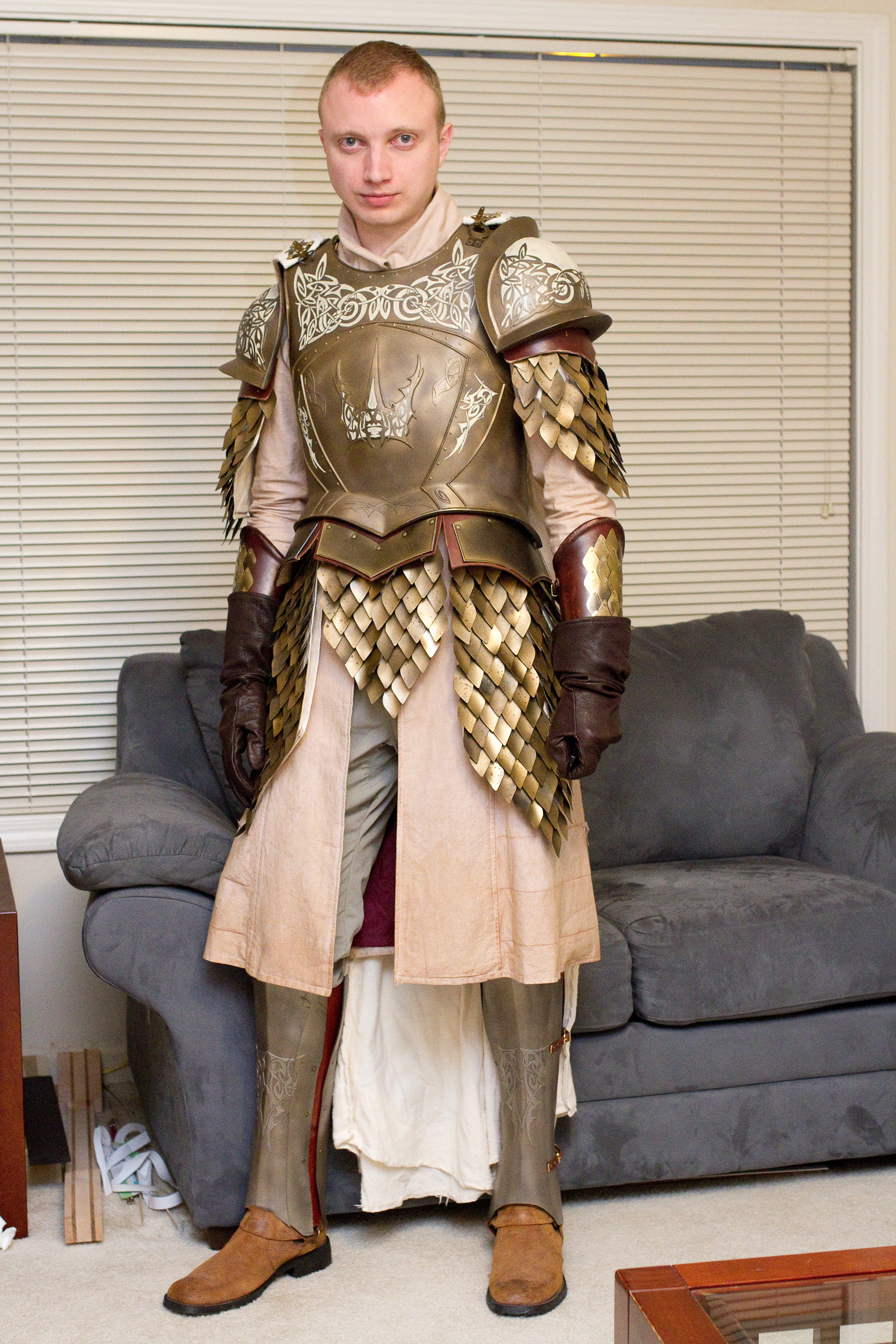 Dyeing Fabric for Game of Thrones Kingsguard Armor « Adafruit ... on walking dead armor, last man standing armor, legend of the seeker armor, lord of the rings armor, steven universe armor,