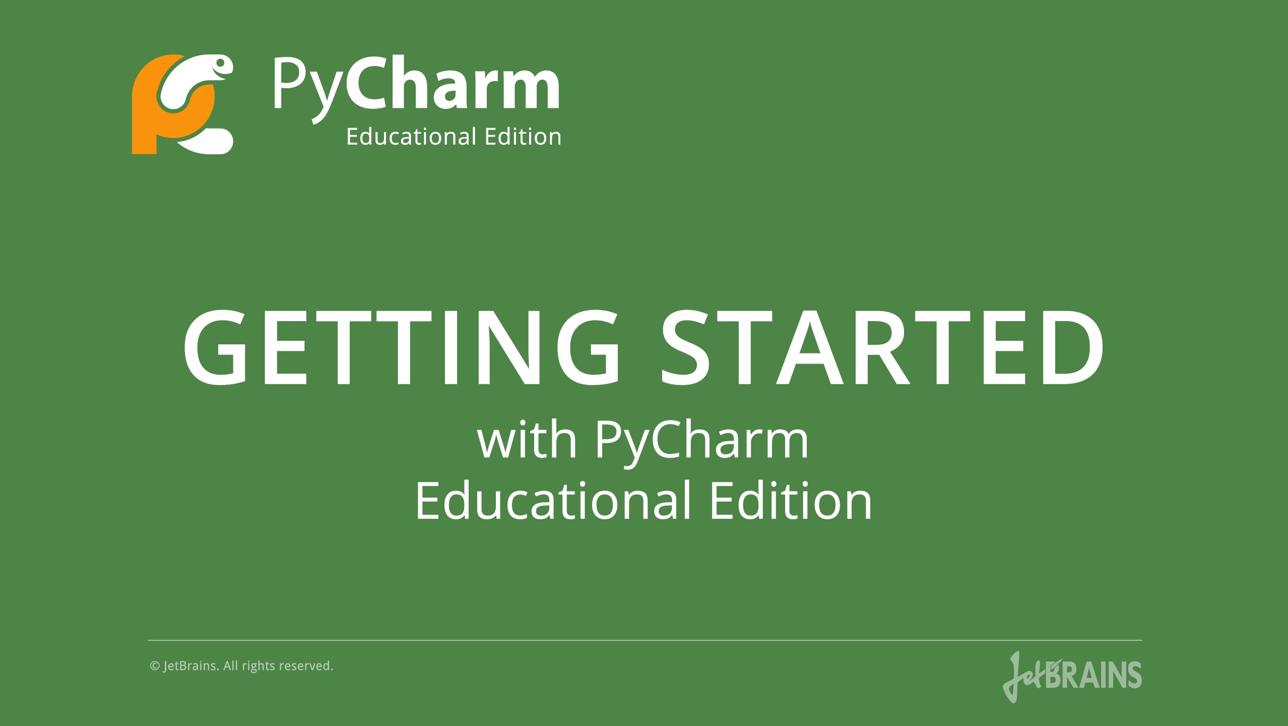 Learn Python With PyCharm Educational Edition