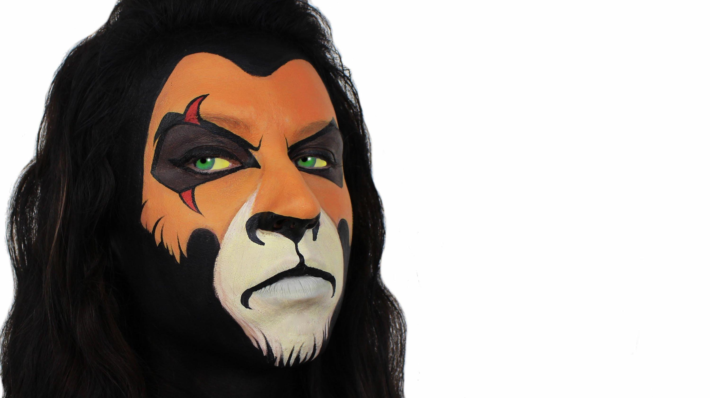Lion Face Paint Tutorial