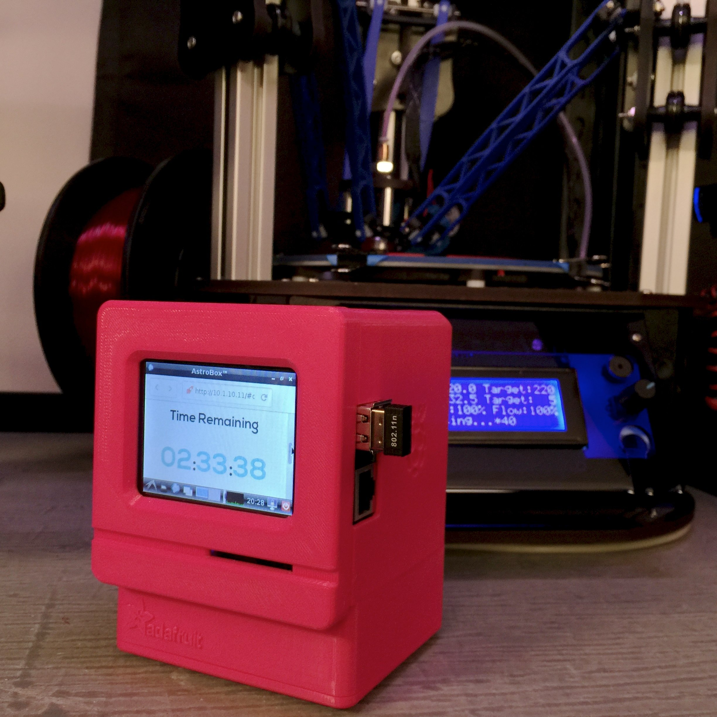 Adafruit MiniPi Astroprint Wireless 3D Printing