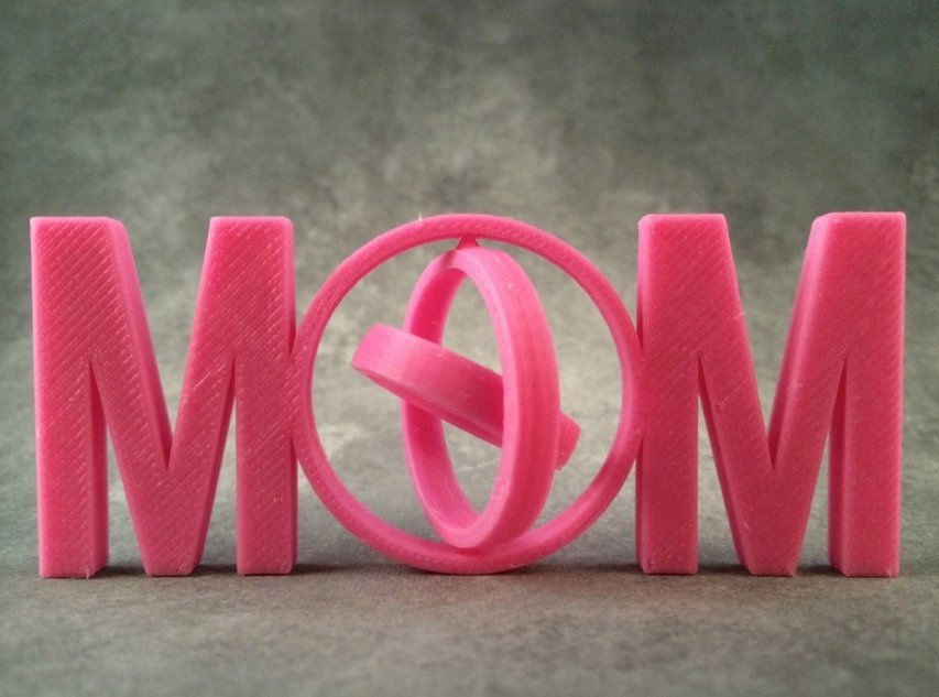 MOM Gimbal Print In Place by DesignMakeTeach Thingiverse