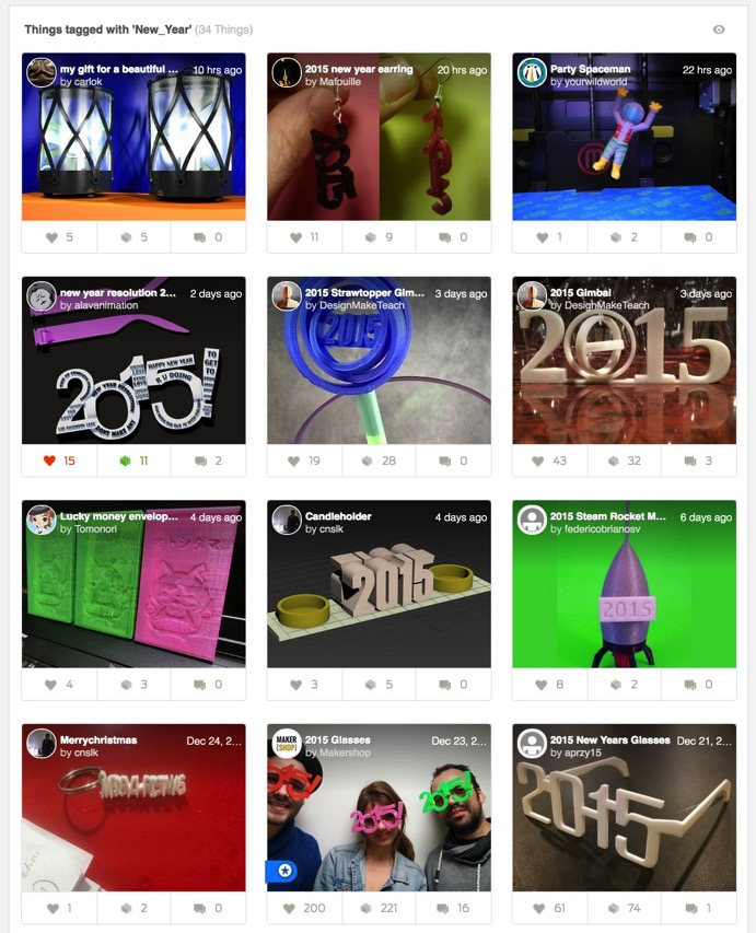 Things tagged with New Year Thingiverse