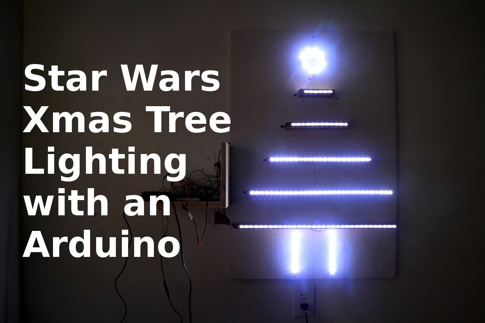 Arduino Powered Wall Christmas Tree W Star Wars Theme Led